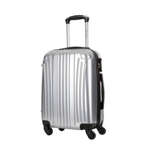 Platinium Silver Spinner Grimsby Suitcase 60cm