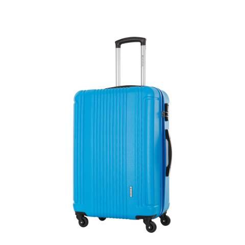 Platinium Blue Spinner Antegria Suitcase 50cm