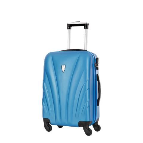 Platinium Blue Spinner Delfino Suitcase 50cm