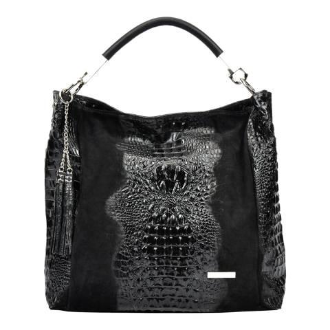 Sofia Cardoni Black Leather Shopper Bag