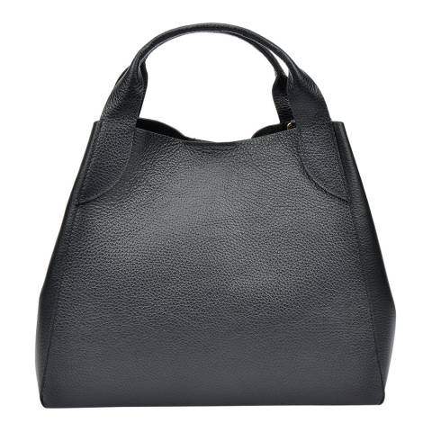 Sofia Cardoni Black Leather Tote Bag
