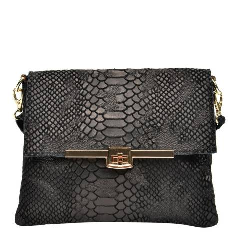 Sofia Cardoni Black Leather Clutch Bag