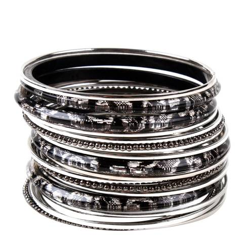 Amrita Singh Black/Silver Zara Bangle Set