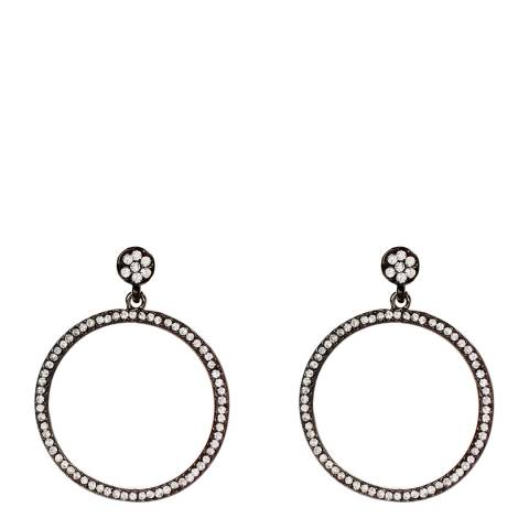 Amrita Singh Gunmetal/Clear Ayla Circular Earring
