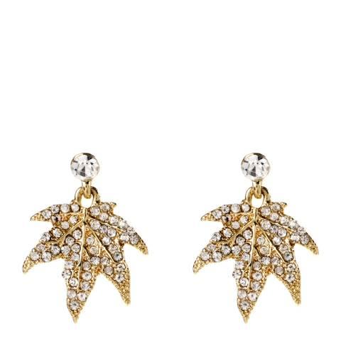 Amrita Singh Gold/Clear Maple Leaf Earring