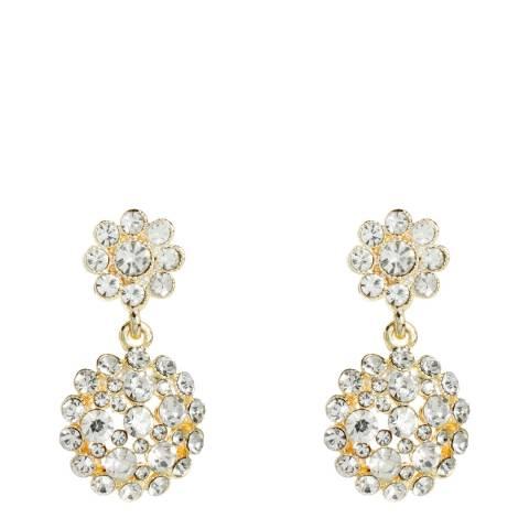 Amrita Singh Gold/Clear Agatha Earring