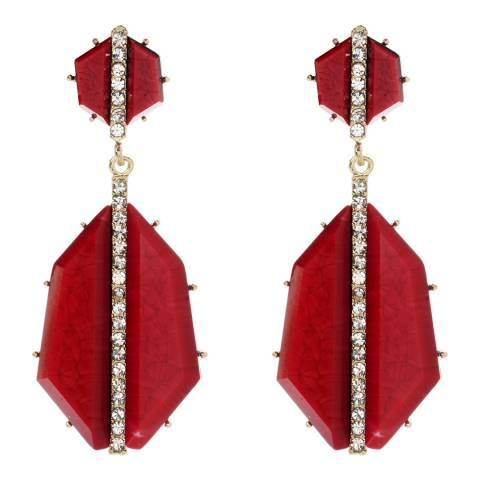 Amrita Singh Ruby Art Deco Earring