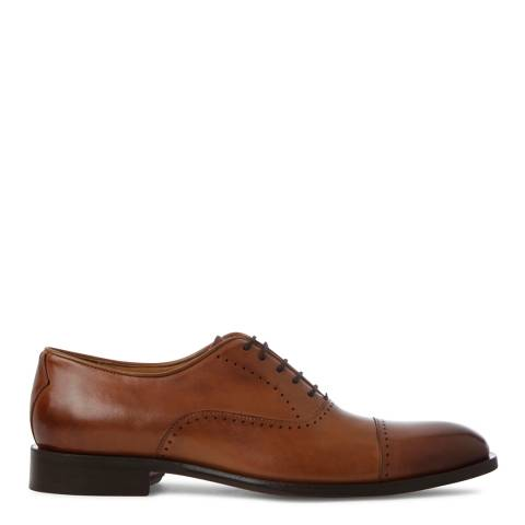 Oliver Sweeney Tan Leather Livorno Toe Cap Oxford Shoes