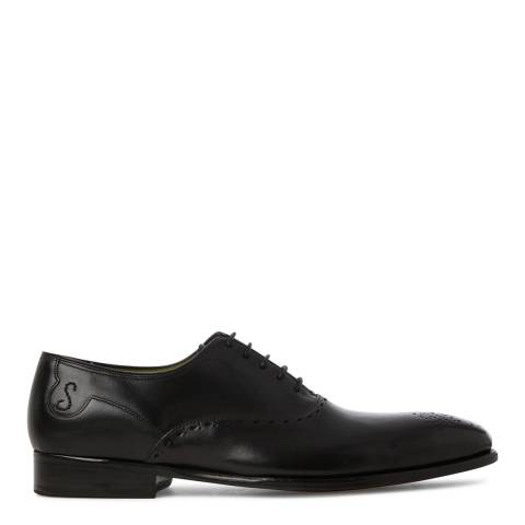 Oliver Sweeney Black Leather High Shine Couronnes Brogue