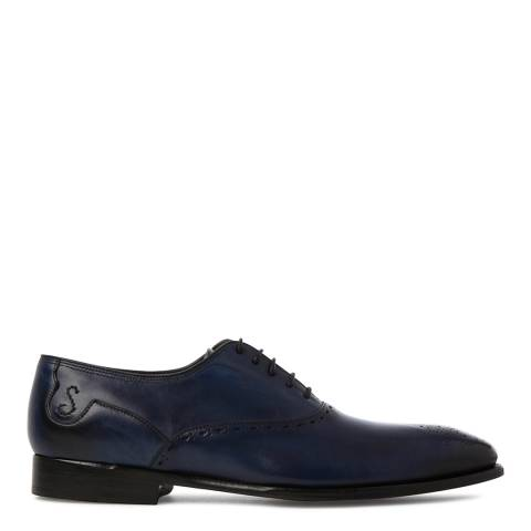 Oliver Sweeney Blue Leather Couronnes Brogue