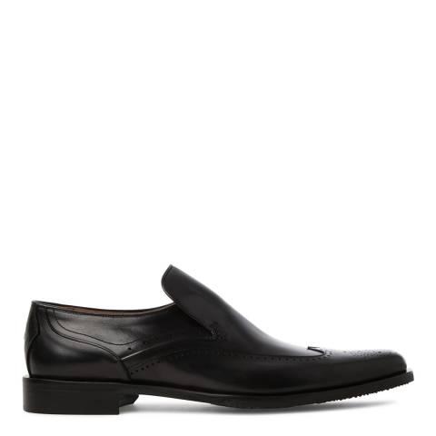 Oliver Sweeney Black Leather Italian Wingtip Slip On