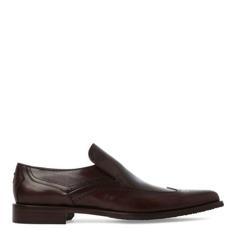 Oliver Sweeney Dark Brown Leather Italian Wingtip Loafers