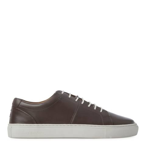 Oliver Sweeney Taupe Grey Leather Laine Sneakers