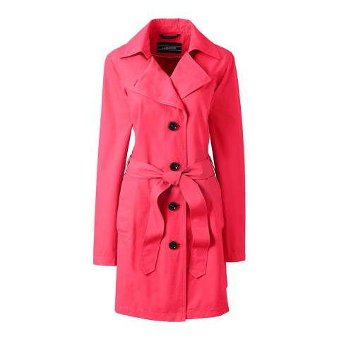 Lands End Crimson Red Harbour Trench Coat
