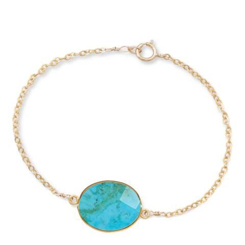 Liv Oliver Gold Turquoise Bracelet