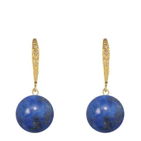 Liv Oliver Lapis Drop Earrings