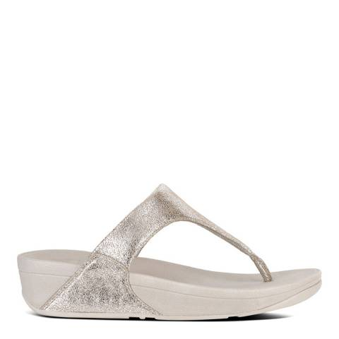 FitFlop Silver Suede Shimmy Toe-Post Sandals
