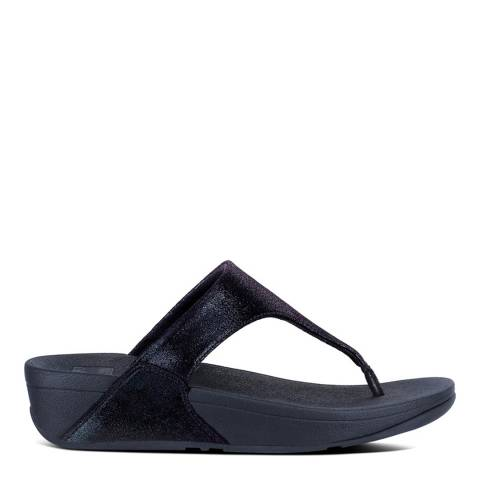 FitFlop Midnight Navy Suede Shimmy Toe-Post Sandals