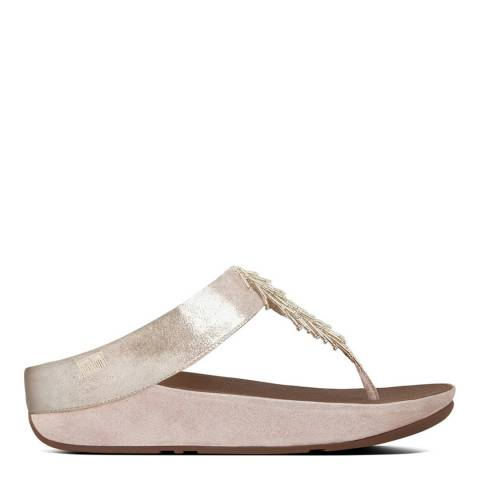 FitFlop Women's Silver Suede Cha Cha Slides