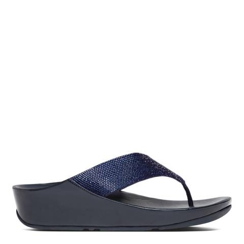 FitFlop Supernavy Crystall Toe Thong Sandals