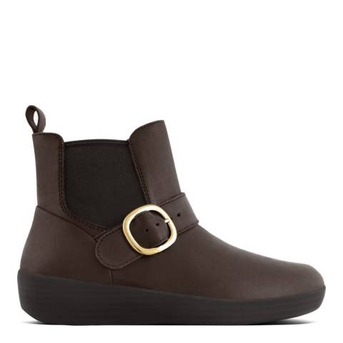 FitFlop Chocolate Brown Leather Super Chelsea Boot
