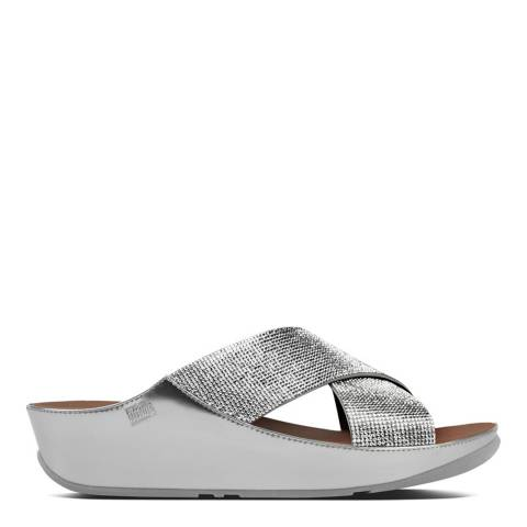 FitFlop Silver Crystall Slide Sandals