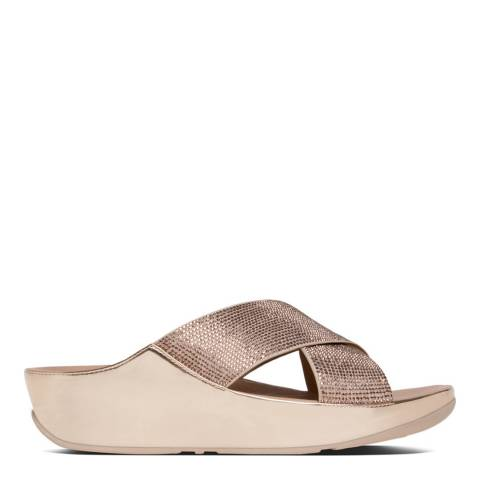 FitFlop Rose Gold Crystall Slide Sandals