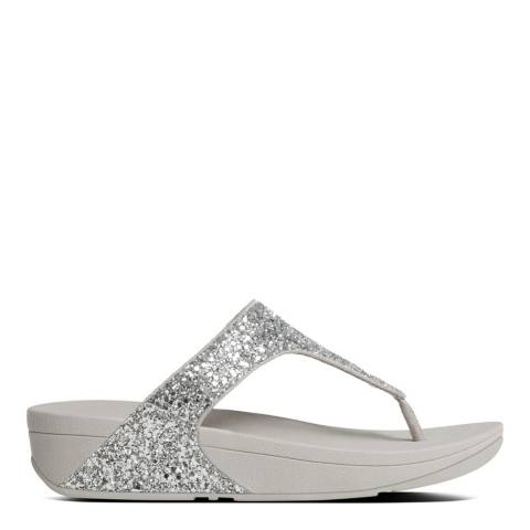 FitFlop Silver Glitterball Toe Thong Sandals