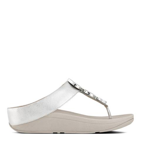 FitFlop Silver Halo Toe Thong Sandals