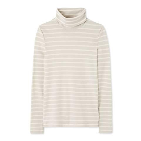 Petit Bateau Grey/Beige Striped Undersweater