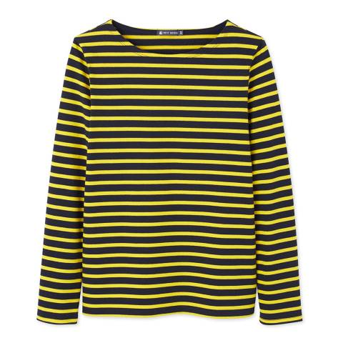 Petit Bateau Black/Yellow Heavy Jersey Sailor Top