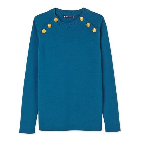 Petit Bateau Blue Cotton Sailor Sweater