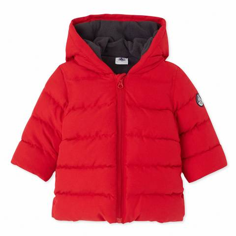 Petit Bateau Red Warmar Padded Jacket