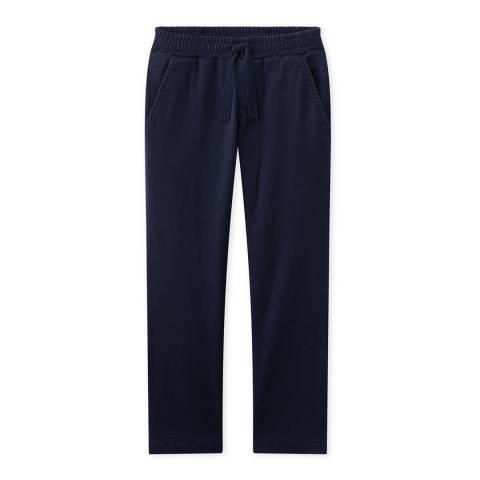 Petit Bateau Navy Lined Gabardine Cotton Blend Pants
