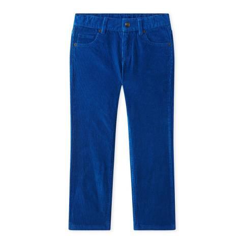 Petit Bateau Cobalt Blue Cotton Corduroy Jeans
