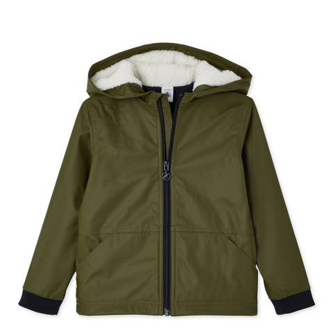 Petit Bateau Khaki Iconic Lined Raincoat