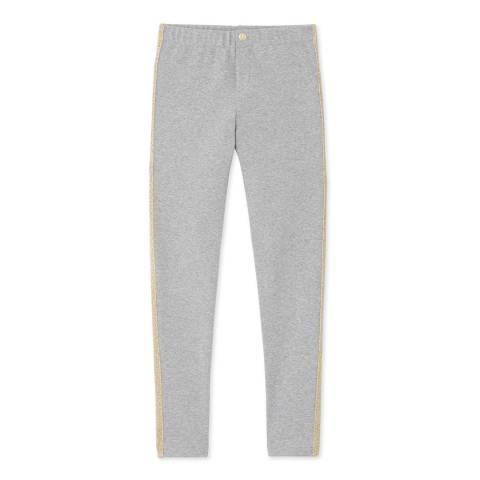 Petit Bateau Light Grey Cotton Blend Legging Pants