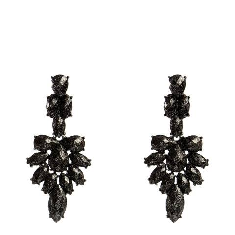 Amrita Singh Black Gemstone Drop Earrings