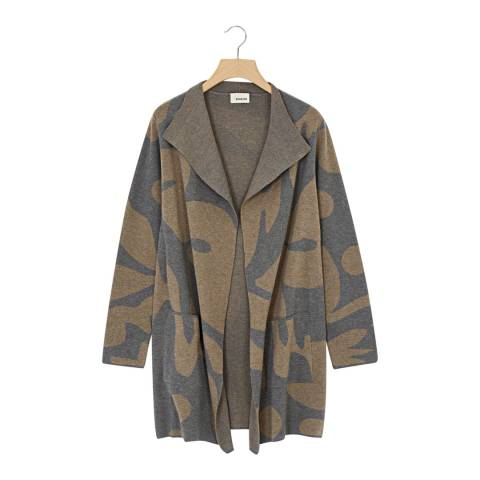 Rodier Women's Taupe Jacquard Jacket