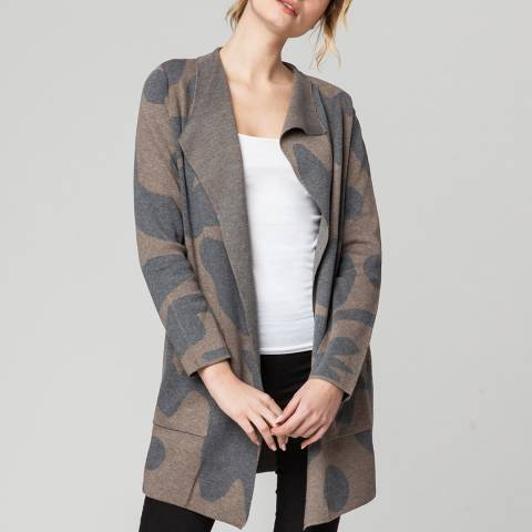 Rodier Grey Jacquard Wool/Silk/Cashmere Blend Jacket