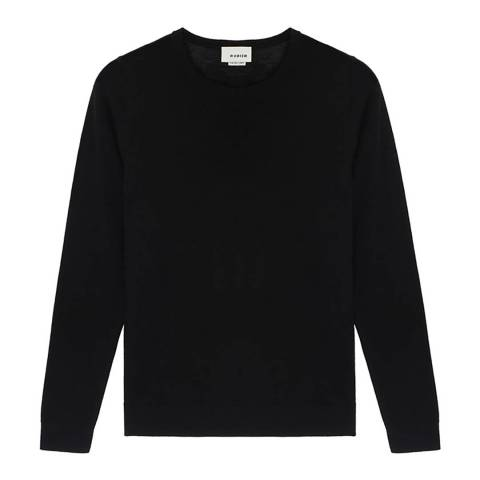 Rodier Black Classic Round Neck Wool Jumper