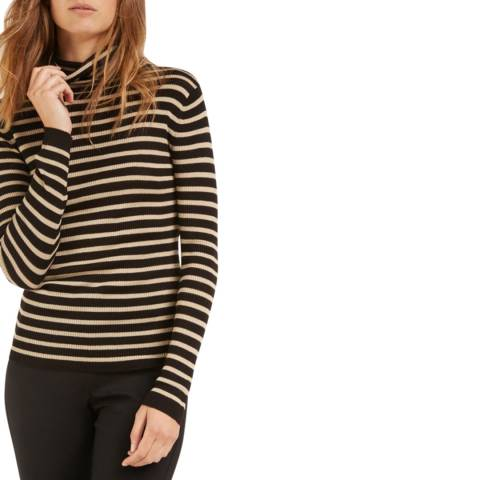 Rodier Black Turtle Neck Wool Jumper