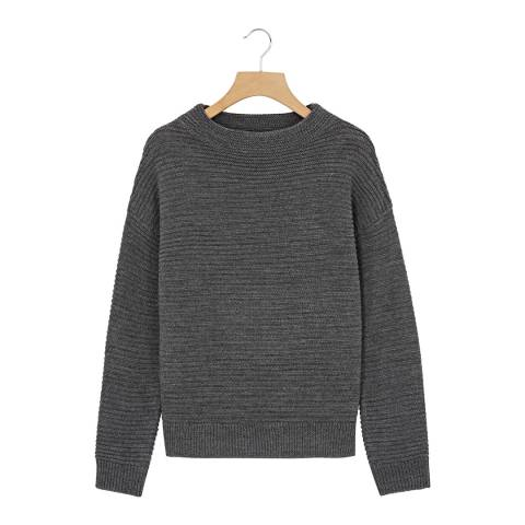 Rodier Grey Round Neck Wool Blend Jumper