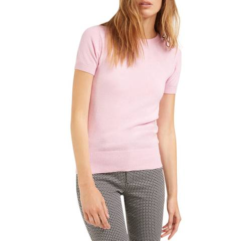 Rodier Pink Classic Cashmere/Wool Blend Cardigan/T-Shirt Twin Set