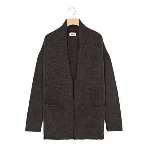 Rodier Charcoal Open Wool Jacket
