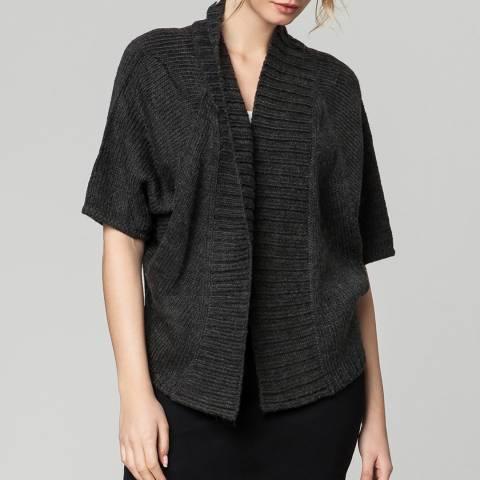 Rodier Charcoal Bat Sleeve Wool Cardigan