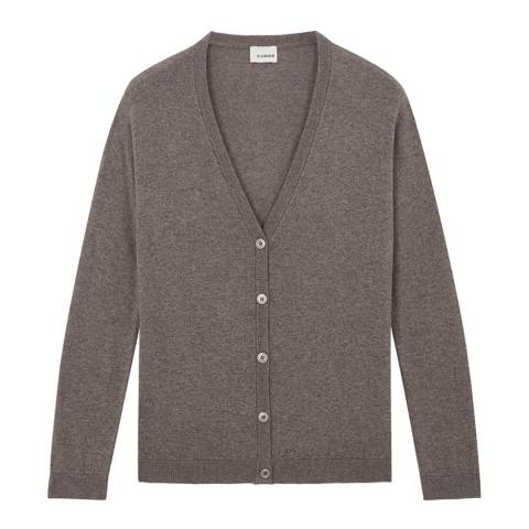 Rodier Women's Taupe Cardigan V Neck