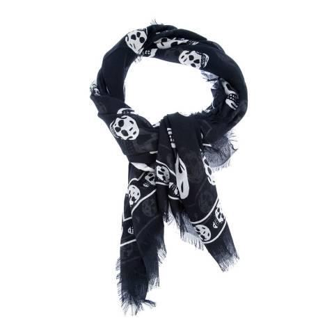 Alexander McQueen Black/White Skull Scarf