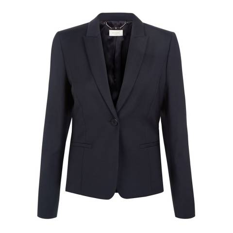 Hobbs London Navy Wool Blend Montrose Jacket