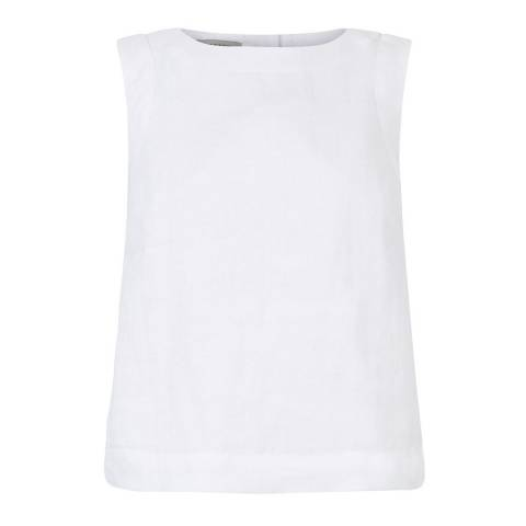 Hobbs London White Linen Maritime Top